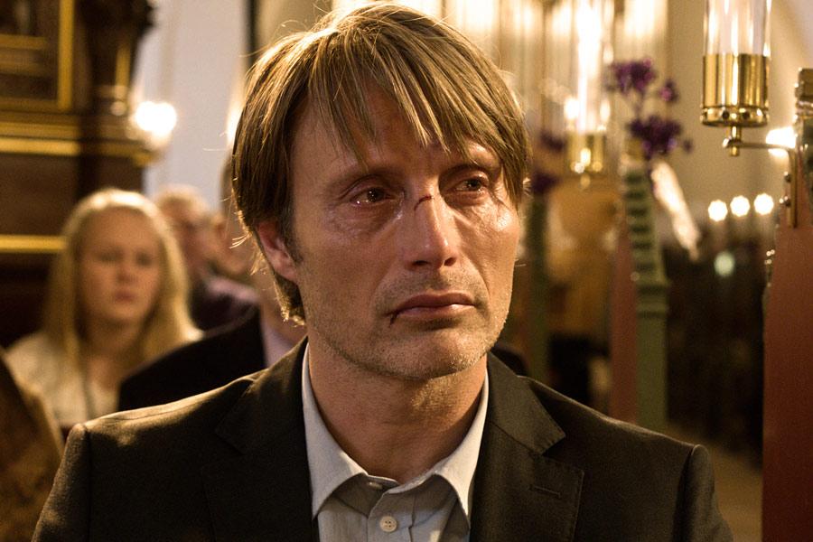 """Kadr zfilmu """"Polowanie"""", reż. Thomas Vinterberg, 2012."""