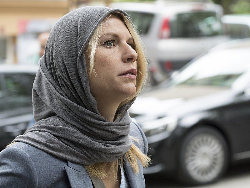 """Claire Danes wserialu """"Homeland"""", 2015."""