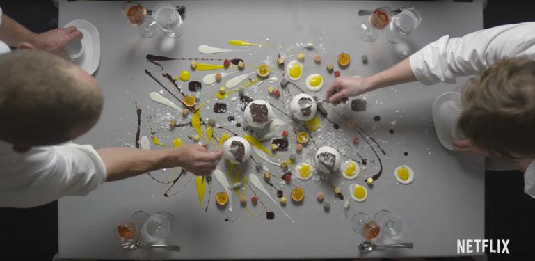 "Kadr zserialu ""Chef's table"", 2016."