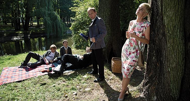 Kadr zfilmu Prosta historia omorderstwie, reż. Arkadiusz Jakubik, 2016.