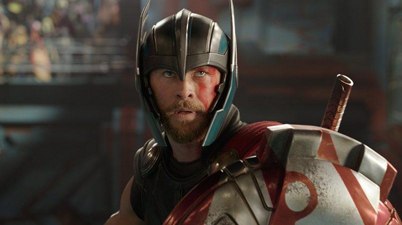 Kadr z filmu Thor: Ragnarok, reż. Taika Waititi, 2017.