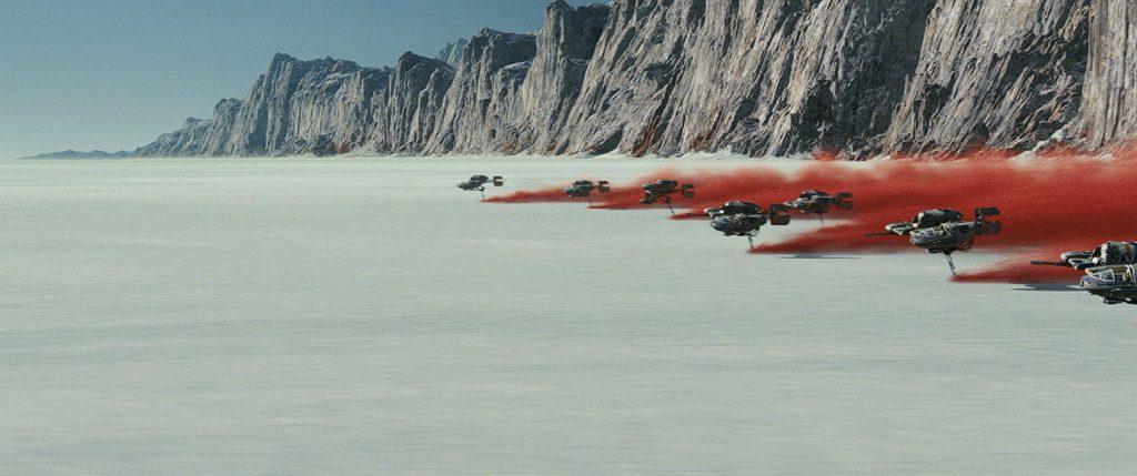 Kadr zfilmu <em>Gwiezdne Wojny: Ostatni Jedi</em>, reż. Rian Johnson, 2017.