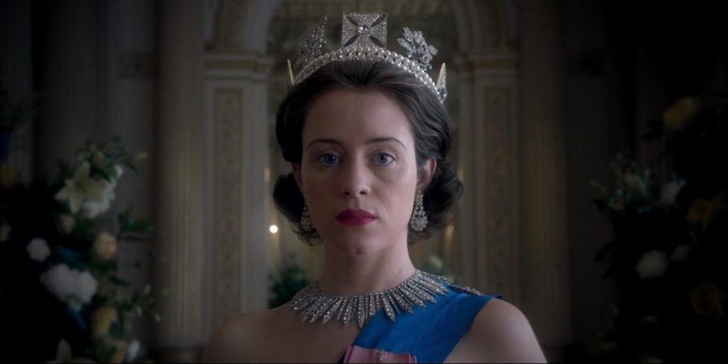 Kadr z serialu The Crown, 2017.