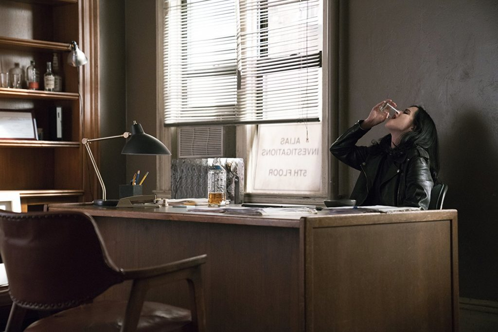 Kadr zserialu <em>Jessica Jones</em>, 2018.