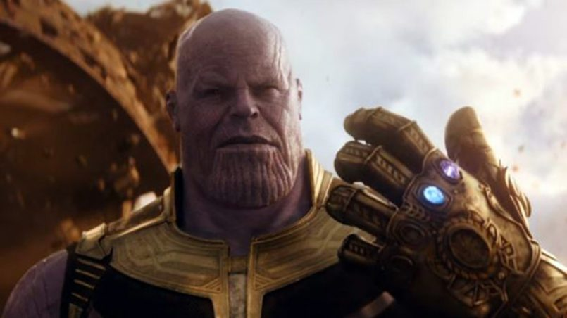 Thanos. Kadr z trailera Avengers: Infinity War, 2018.