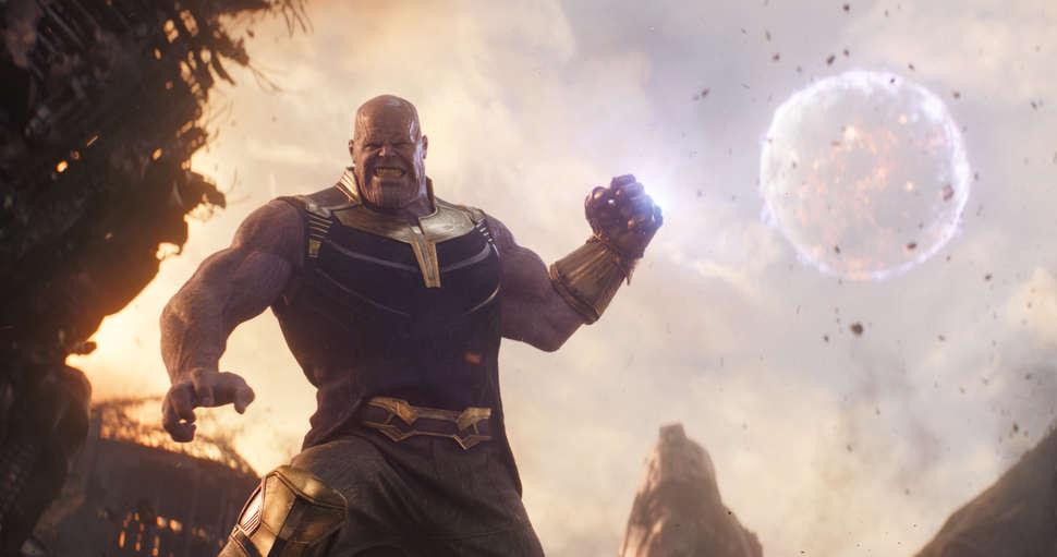 Thanos. Kadr ztrailera <em>Avengers: Infinity War</em>, 2018.