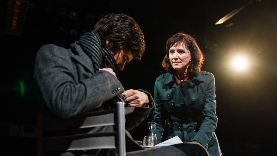 Juliusz Cezar wBridge Theatre, reż. Nicholas Hytner, 2018.
