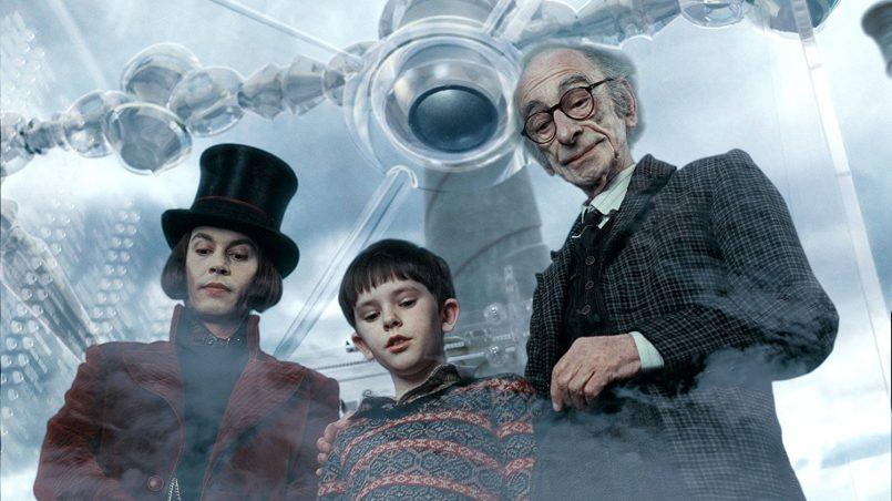 Kadr z filmu Charlie i fabryka czekolady, reż. Tim Burton, 2005.