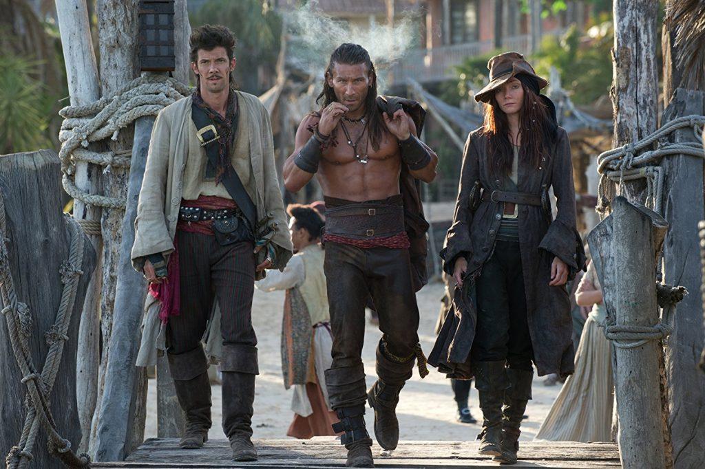 Kadr zserialu <em>Piraci</em>.