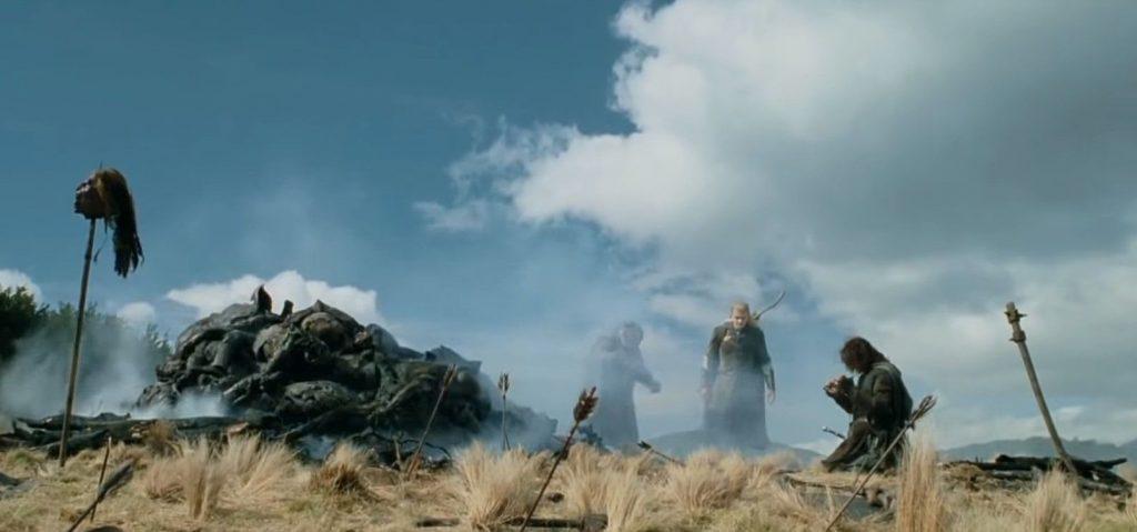 Kadr zfilmu <em>Władca Pierścieni: Dwie Wieże</em>, reż. Peter Jackson, 2002.