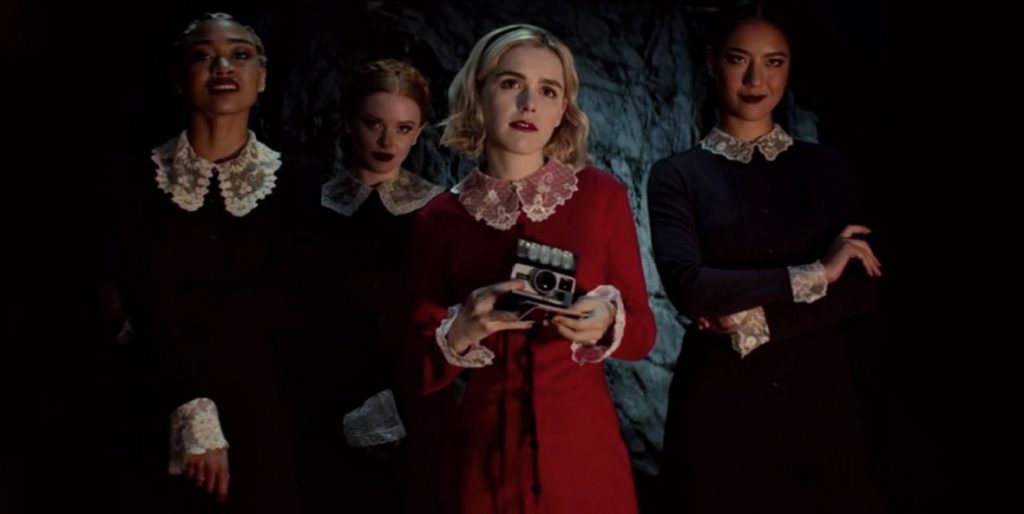 Kadr z serialu <em>The Chilling Adventures of Sabrina</em>, 2018.