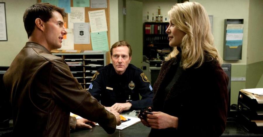 Lee Child wfilme <em>Jack Reacher: Jednym strzałem</em>, reż. Christopher McQuarrie, 2012.