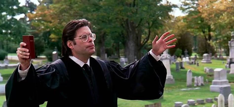 Stephen King wfilmie <em>Smętarz dla zwierzaków</em>, reż. Mary Lambert, 1989.