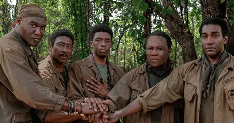 Kadr zfilmu <em>Pięciu braci</em>, reż. Spike Lee, 2020.