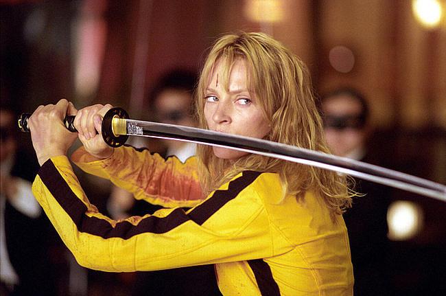 Kadr zfilmu <em>Kill Bill</em>, reż. Quentin Tarantino, 2003.