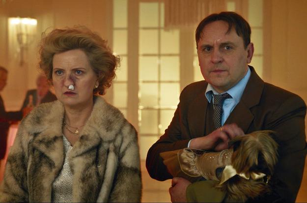 Kadr zfilmu <em>Teściowie</em>, reż. Kuba Michalczuk, 2021.